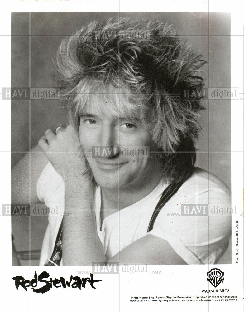 1989 Press Photo Rod Stewart  singer - Historic Images