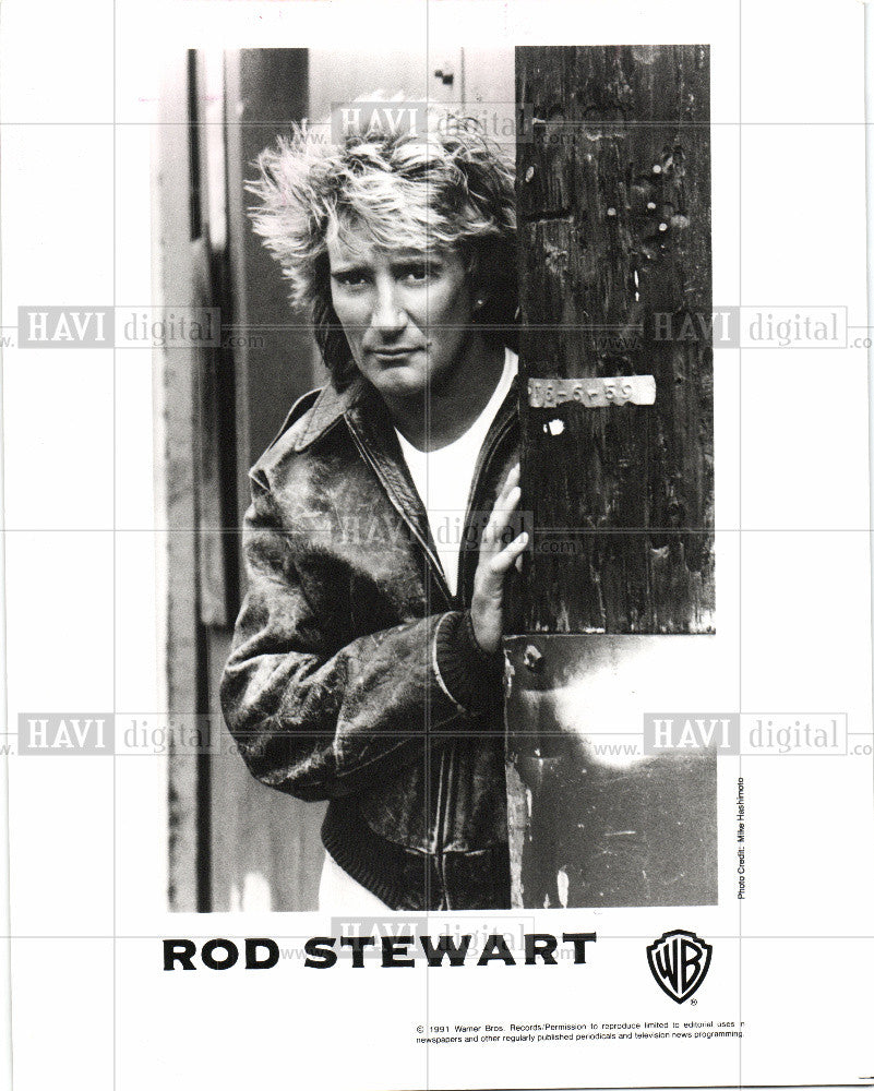1993 Press Photo Rod Stewart Singer Songwriter - Historic Images