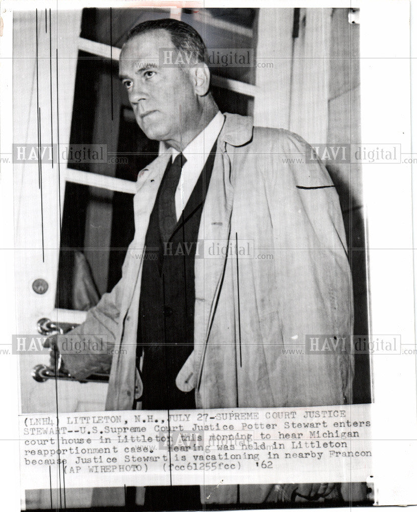 1962 Press Photo supreme court justice reapportionment - Historic Images