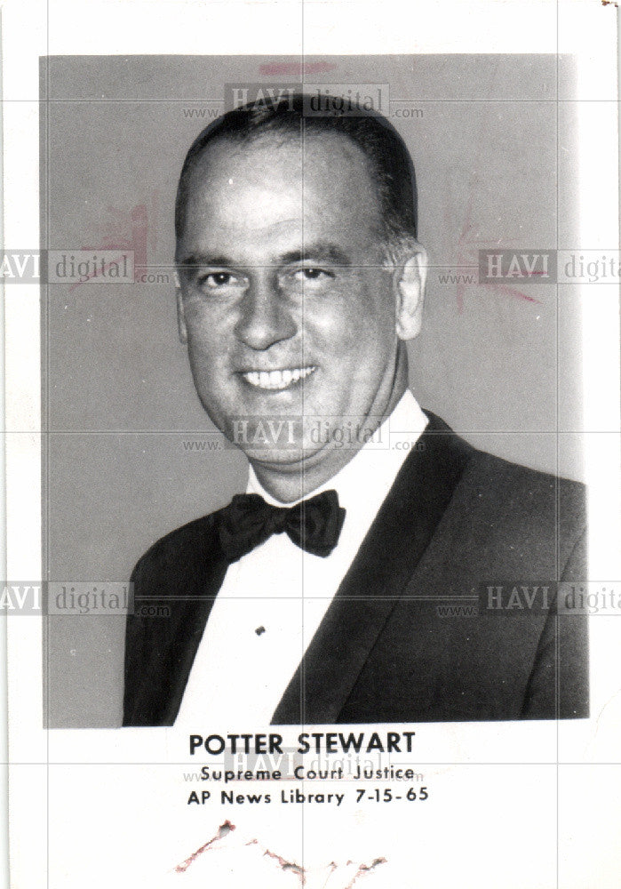 1965 Press Photo Potter Stewart Supreme court justice - Historic Images