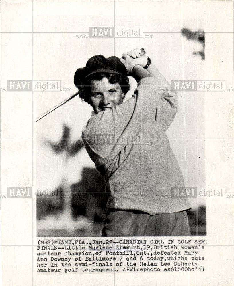 1954 Press Photo Marlene Stewart canadian golfer - Historic Images