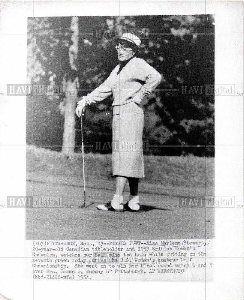 1954 Press Photo MISS MARLENE STEWART - Historic Images