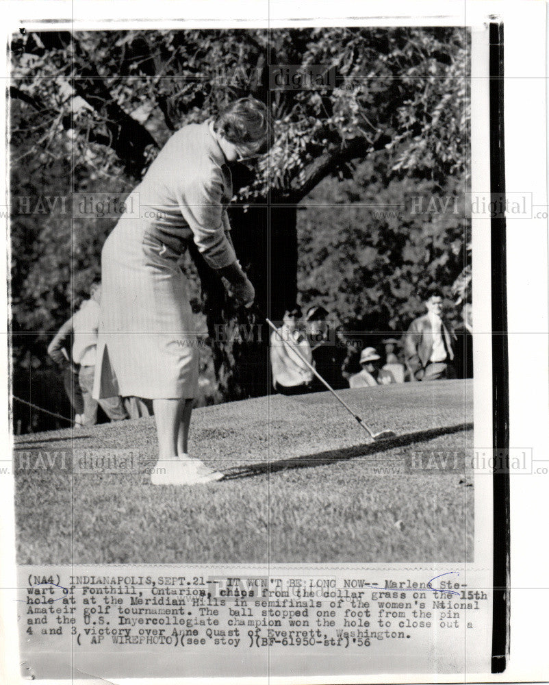 1956 Press Photo Marlene Stewart golfer Ontario - Historic Images