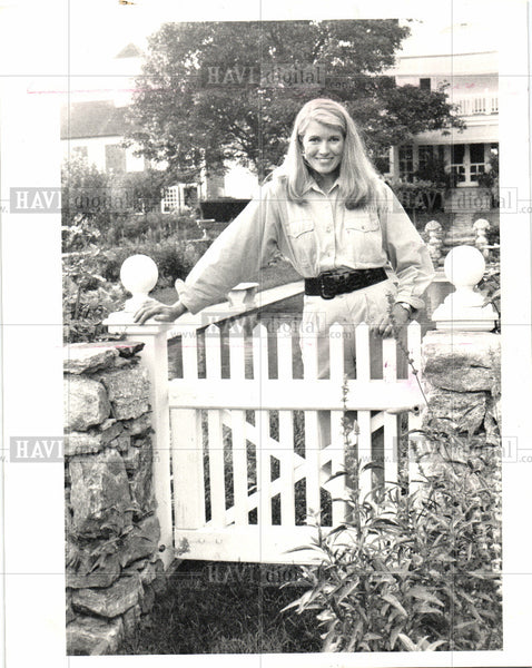 1987 Press Photo Martha Steward Connecticut home 1980s - Historic Images