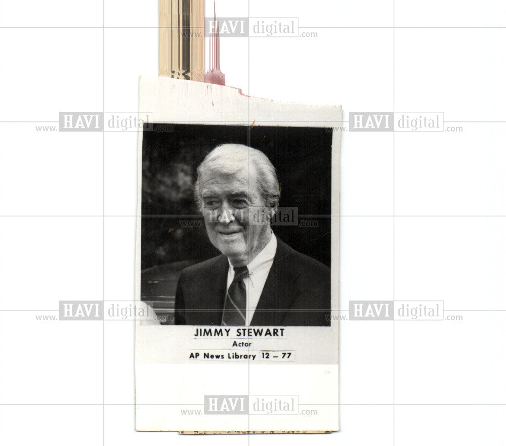 1978 Press Photo JIMMY STEWART - Historic Images