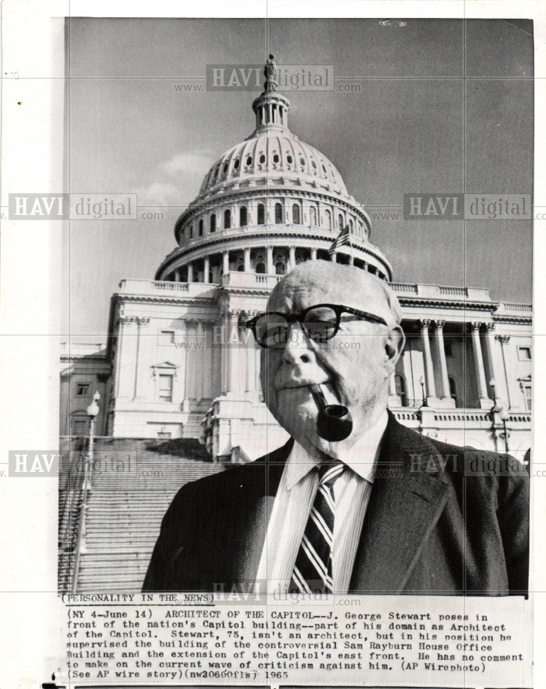 1965 Press Photo J. George Stewart Architect Capitol - Historic Images