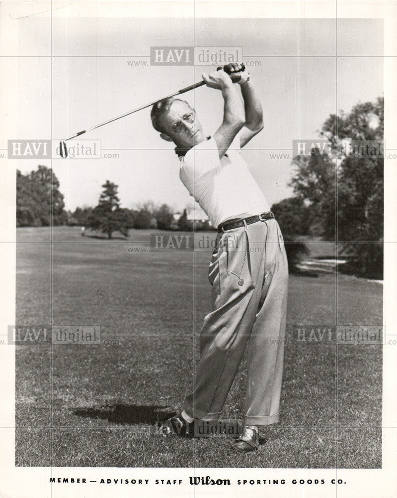 1956 Press Photo Earl Richard Stewart, Jr. golfer pro - Historic Images