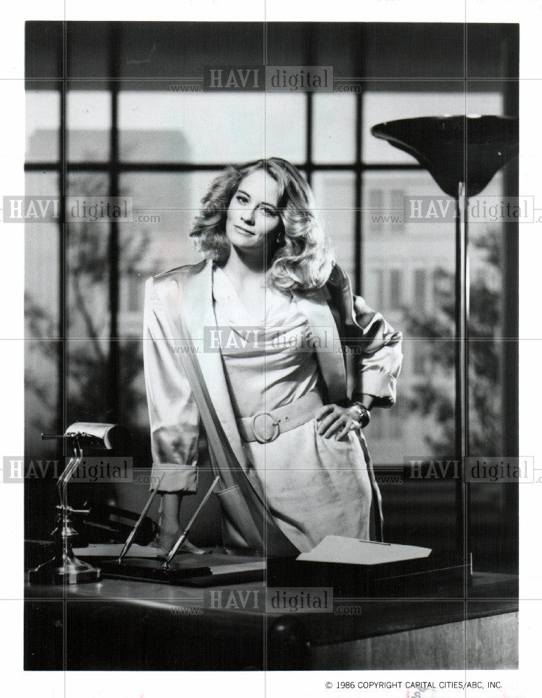 1987 Press Photo Cybill Shepherd American actress model - Historic Images
