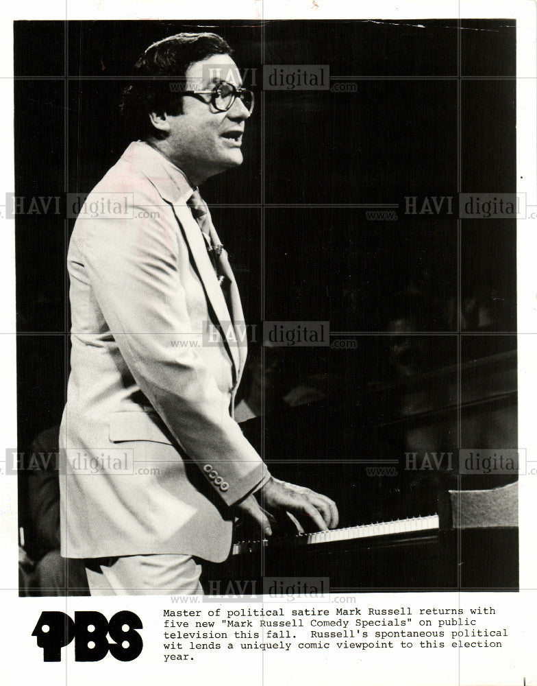 1981 Press Photo Mark Russell political satire comedian - Historic Images