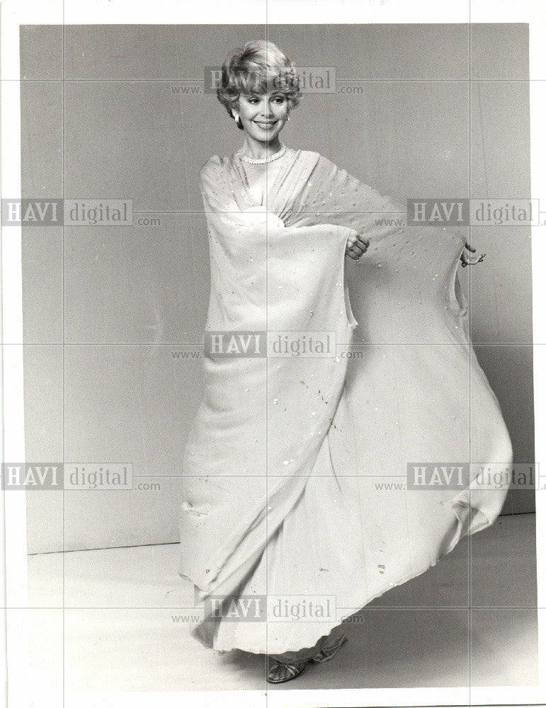 1987 Press Photo Barbara Rush Actress TV Stage Film - Historic Images