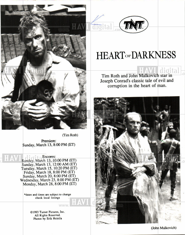 Tim Roth Actor Heart Of Darkness 1994 Vintage Photo Print Historic