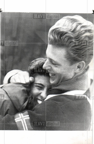 1952 Press Photo winter Olympics - Historic Images
