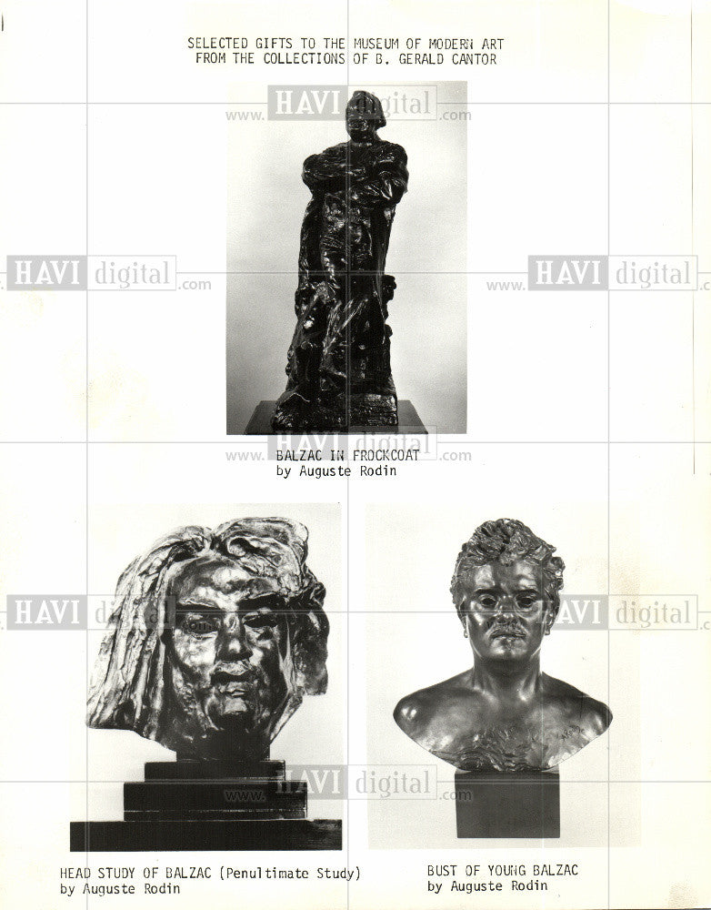 1974 Press Photo Auguste Rodin French Sculptor - Historic Images
