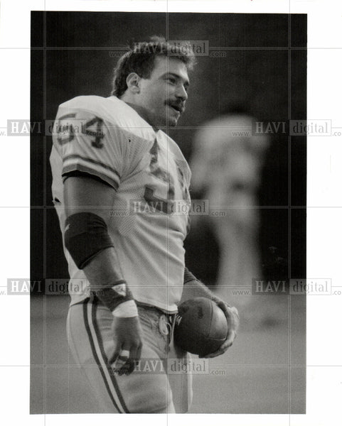 1980 Press Photo American football player - Historic Images