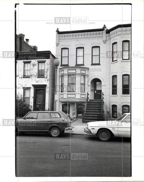 1988 Press Photo Carr Washington townhouse - Historic Images
