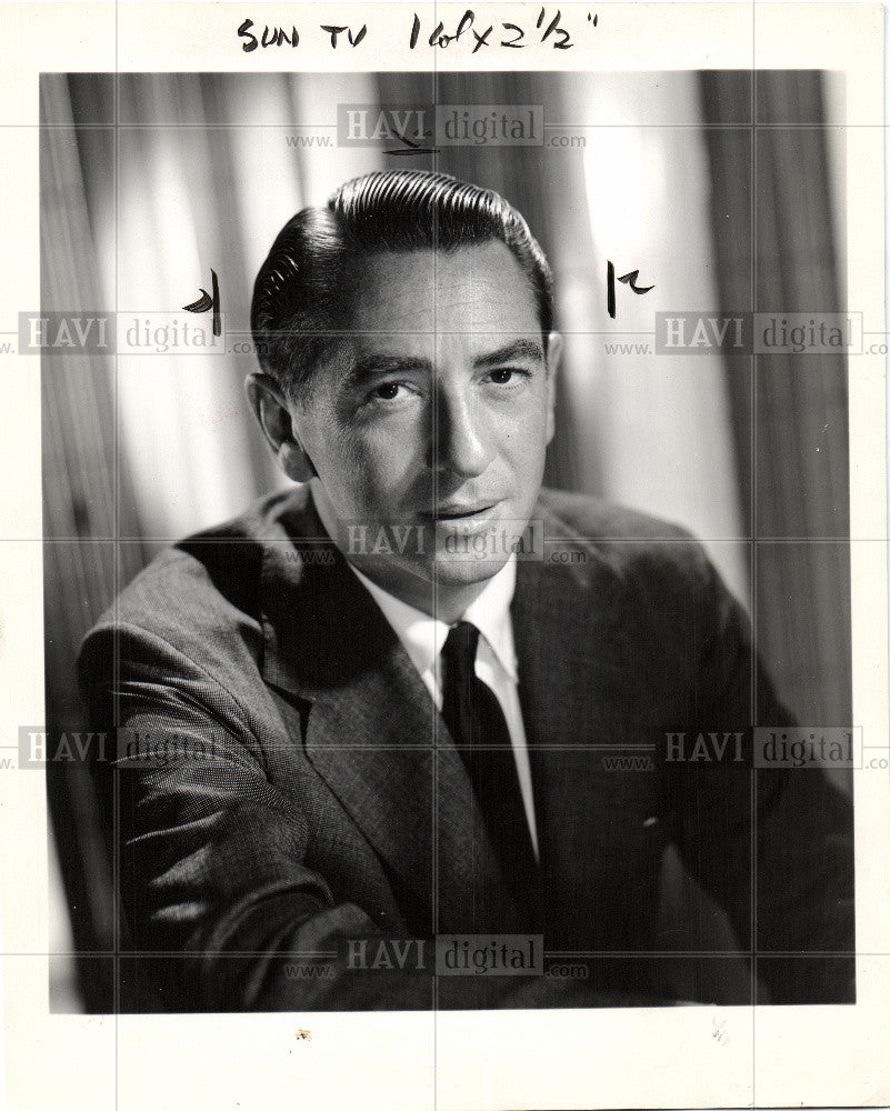 1966 Press Photo Macdonald Carey Days Our Lives Actor - Historic Images