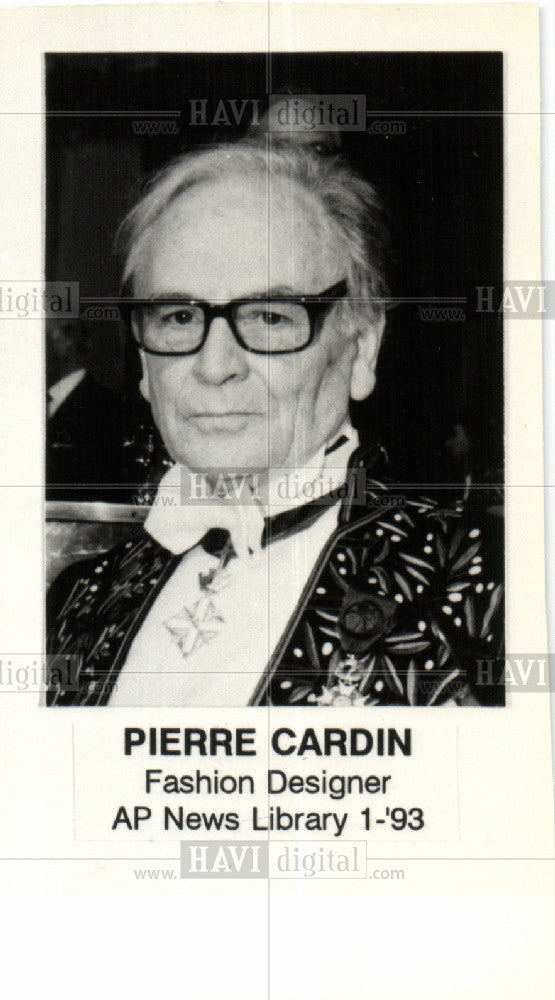 Pierre Cardin Fashion Designer 1993 Vintage Photo Print Historic Images
