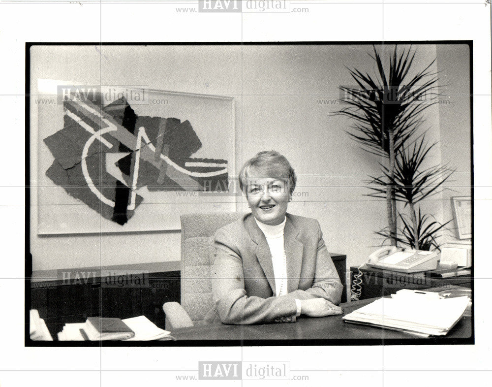 1987 Press Photo Katherine Carrick Vice President - Historic Images