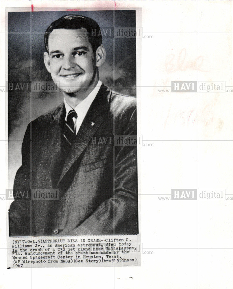 1967 Press Photo Clifton Curtis 'C.C.' Williams - Historic Images