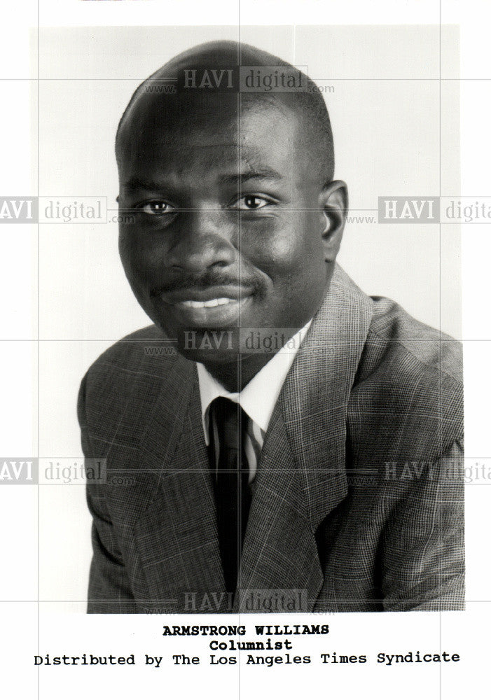 1995 Press Photo Armstrong Williams columnist - Historic Images
