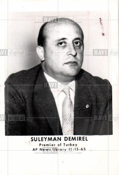 1970 Press Photo Suleyman Demirel, Premier of Turkey - Historic Images