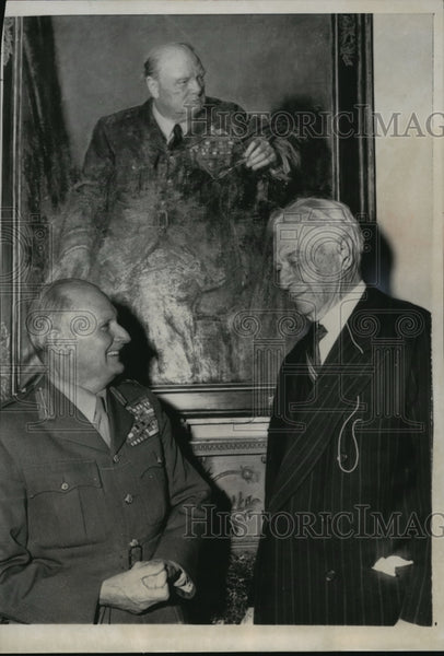 1955 Press Photo British Field Marshal Viscount Montgomery w/ Bernard Baruch - Historic Images