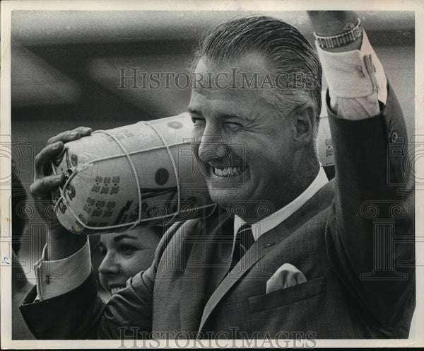 1968 Press Photo The Republican vice-presidential candidate Gov Spiro T Agnew - Historic Images