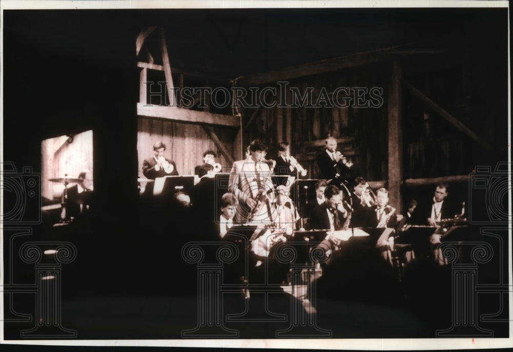 1993 Press Photo Jazz band concert at Birch Creek Music Center near Egg Harbor - Historic Images