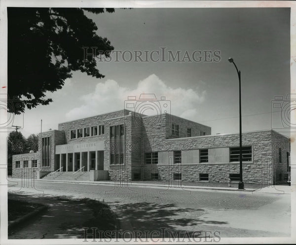 1955 Press Photo New Safety building, Fond du Lac, Wisconsin - mja16461 - Historic Images