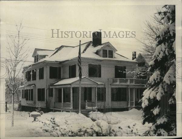 1929 Press Photo President Coolidge Home in Northampton Massechusetts - Historic Images