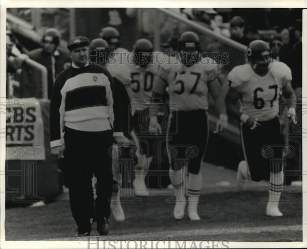 1989 Press Photo Chicago Bears Coach Mike Ditka Loses To Packers - mja67361 - Historic Images