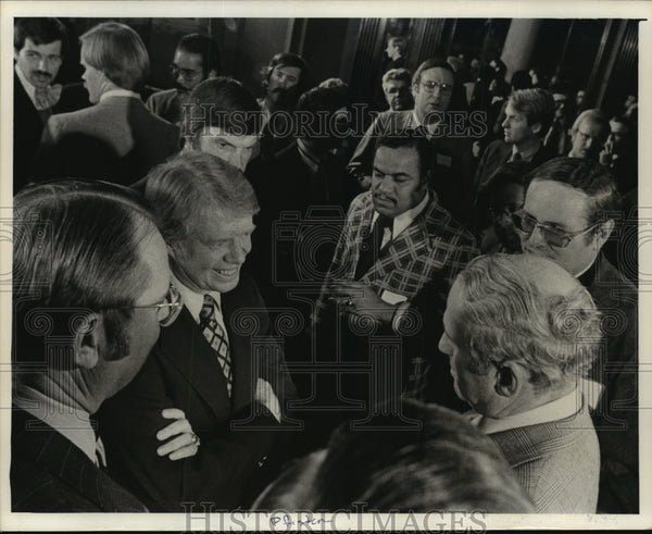 1976 Press Photo Jimmy Carter Visiting Milwaukee, Wisconsin - mja83397 - Historic Images