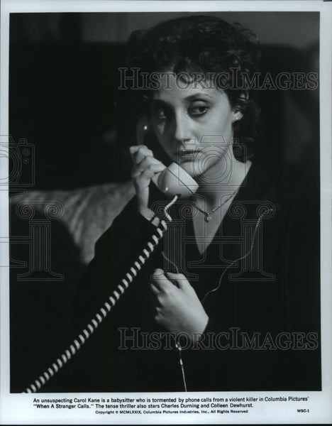 1979 Press Photo Carol Kane is the terrified babysitter in When a Stranger Calls - Historic Images