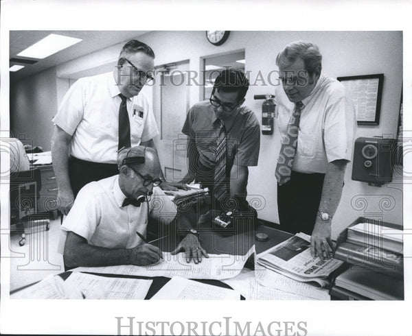 1971 Press Photo Milwaukee Sentinel News Departments - mjb01903 - Historic Images