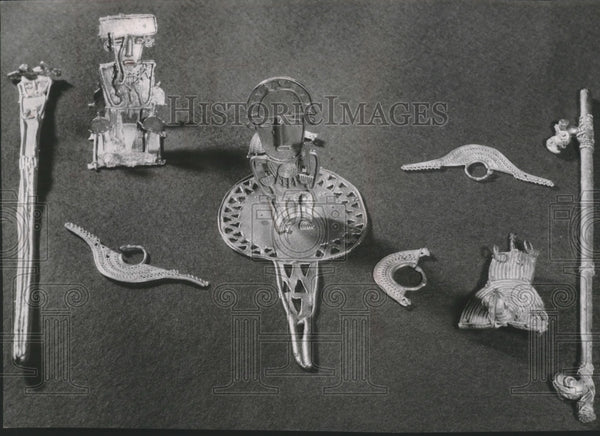 1953 Press Photo Artifacts from the Tiahuanaco period at Milwaukee Museum - Historic Images