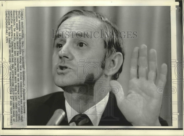1971 Press Photo D.C. Price Commission head chairman, C. Jackson Grayson - Historic Images