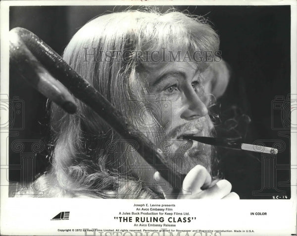 "1972 Press Photo Peter O'Toole in ""The Ruling Class."" - mjb67730 - Historic Images"