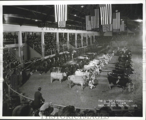 1923 Press Photo Little International Live Stock Show at University, Wisconsin. - Historic Images