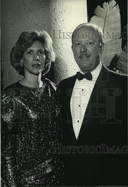 1988 Press Photo Paul Roller & wife Kathleen at Bradley Center dedication - Historic Images