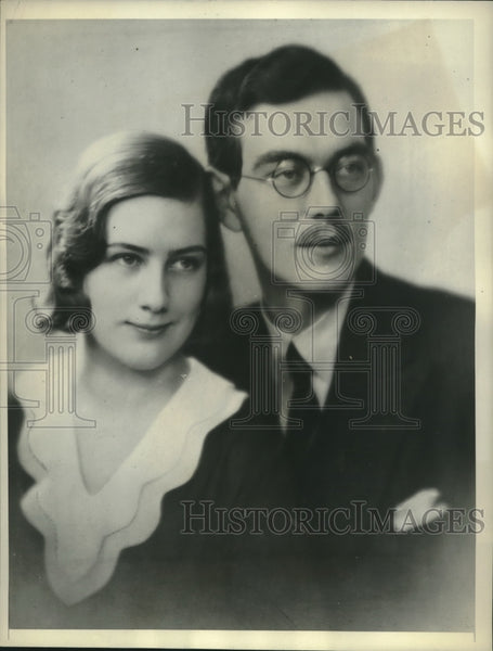 1931 Press Photo Prince Lennart of Sweden and Mlle. Karin Nissvandt. - mjc04467 - Historic Images