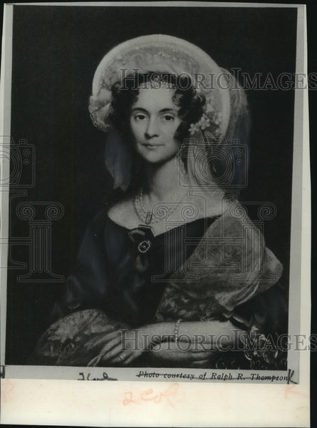 1836 Press Photo Portrait of Sallie Stevenson, wife of US minster in London - Historic Images