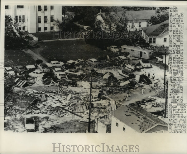 1857, The devastation left by Hurricane Audrey in Cameron, Louisiana - Historic Images