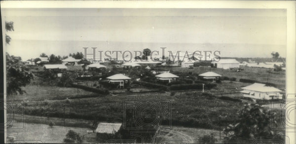 1942 Press Photo View of Houses in Lae, Papua New Guinea - mjc21138 - Historic Images