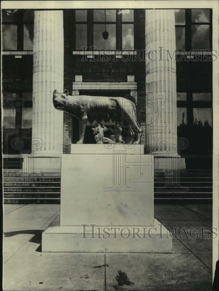 1929 Press Photo Rome, Italy Founders Statue Gifted To Rome, Georgia - mjc22441 - Historic Images