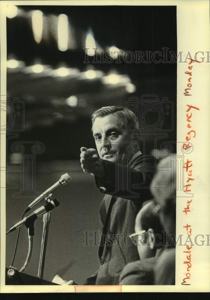1980 Press Photo Vice President Walter Mondale at AFL-CIO convention, Wisconsin - Historic Images