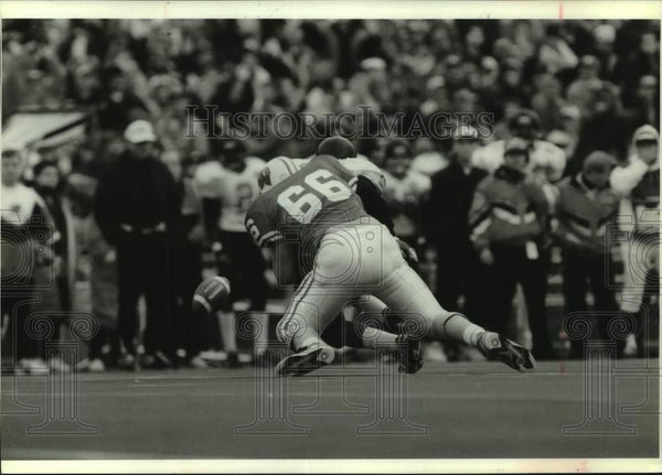 1994 Press Photo University of Wisconsin-Madison football player Mike Thompson - Historic Images