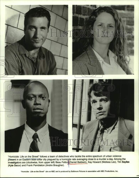 "1994 Press Photo Cast of Television Show ""Homicide: Life on the Streets"" on NBC - Historic Images"