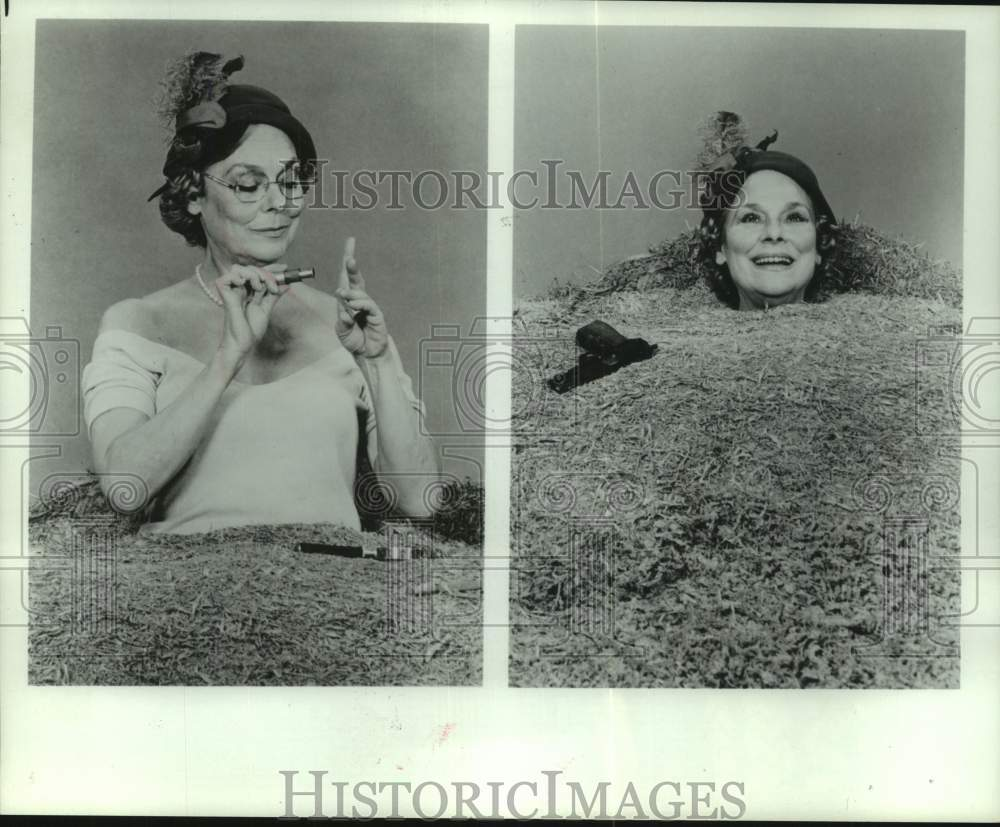 "1980 Press Photo Irene Worth stars as Winnie in ""Happy Days"" - mjc36766 - Historic Images"