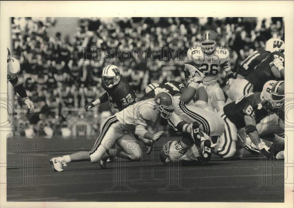 1992 Press Photo Bowling Green State plays the Badgers at Camp Randall Stadium - Historic Images
