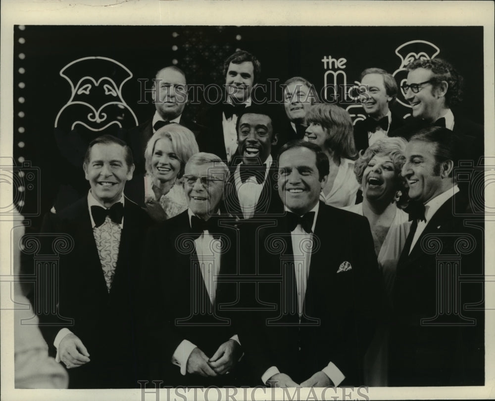 1973 Press Photo The Many Faces of Comedy, Berle, Burns, King, Thomas, Dickinson - Historic Images